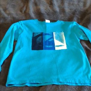 Boys size 7 long sleeve Quicksilver tee